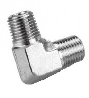 Elbow Male thread GAS 60 ° - Male GAS CON: