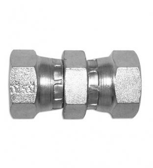 Junction Nipple Female Thread GAS 60 ° - Female GAS 60 °