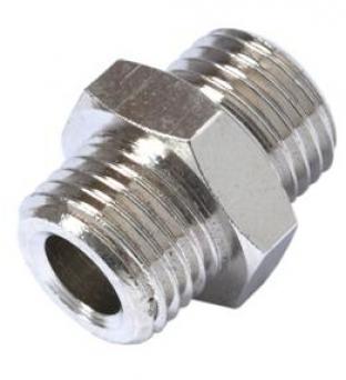 nipplo di giunzione filetto gas-gas conico-cilindrico cono 60°