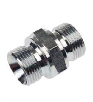 Junction Nipple Thread Mashio Gas 60 ° - Male Gas 60 ° DIN 3852