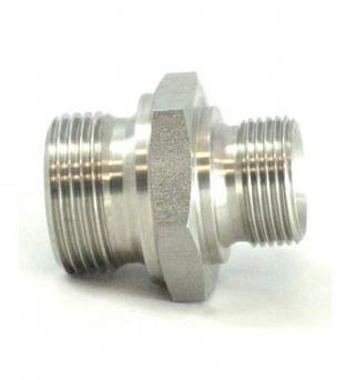Nipplo Di Ridunzione Filetto Mashio Gas 60°- Maschio Gas 60° Profilo DIN 3852