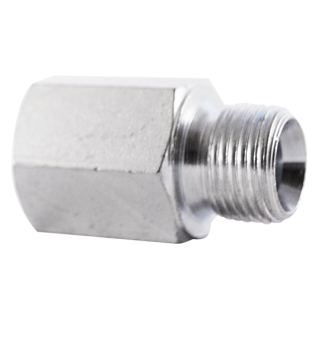 reducing adaptor male 60° cone- female bspp-metric